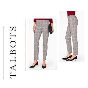 Talbots Chatham Plaid Career Trousers